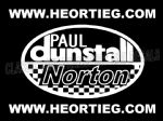 Paul Dunstall Norton Tank and Fairing Transfer Decal D20084A-9